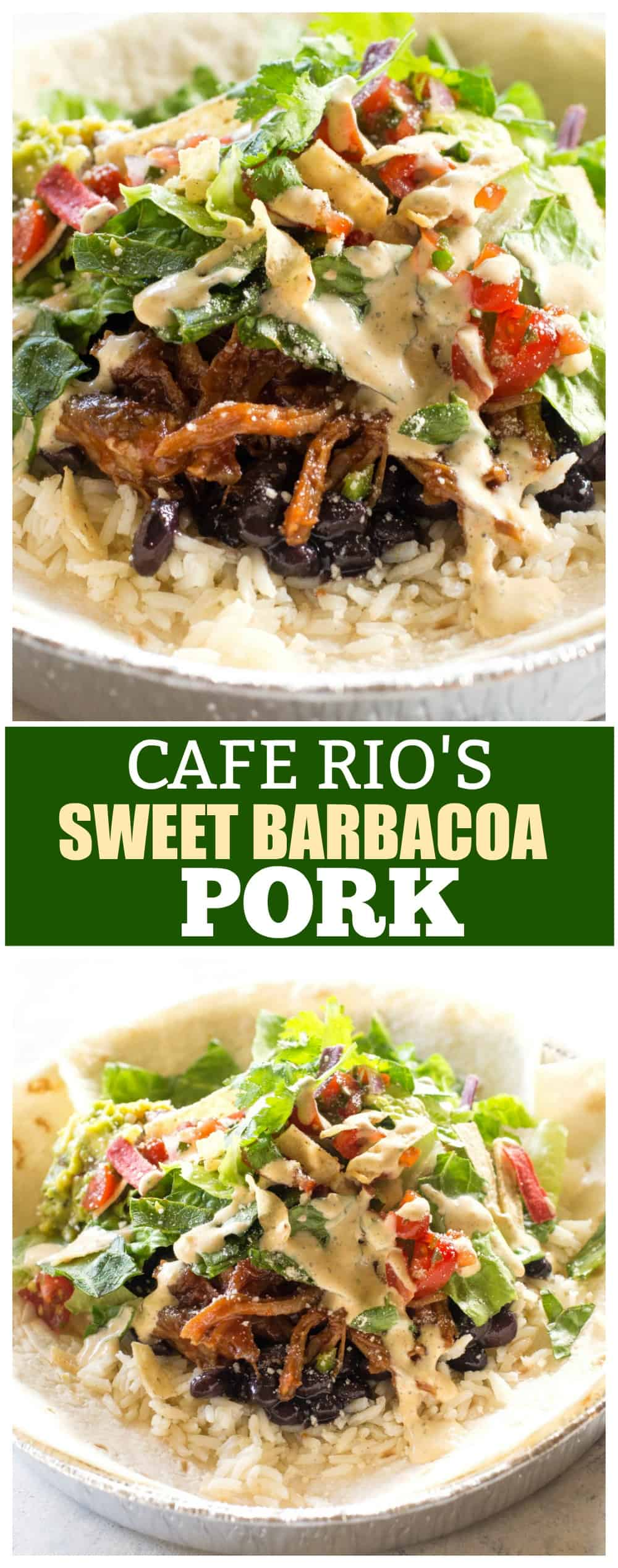 Cafe Rio Sweet Barbacoa Pork