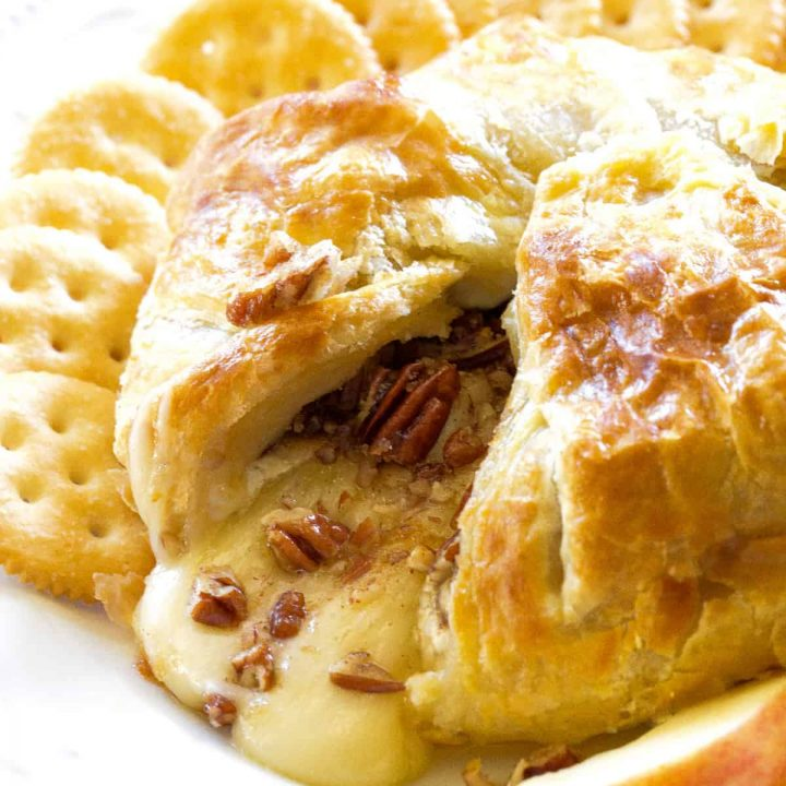 Baked Brie on a plate