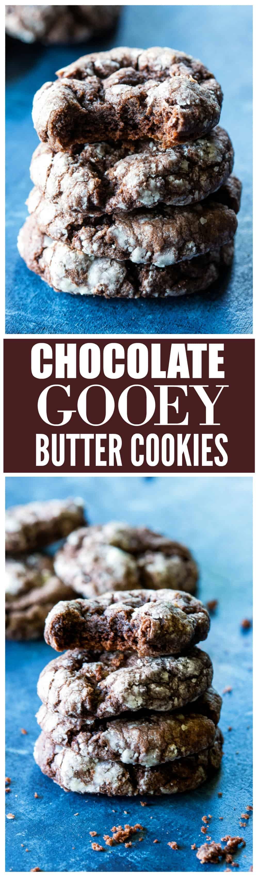 Chocolate Ooey Gooey Butter Cookies - so easy and so good. #chocolate #ooey #gooey #butter #cookies