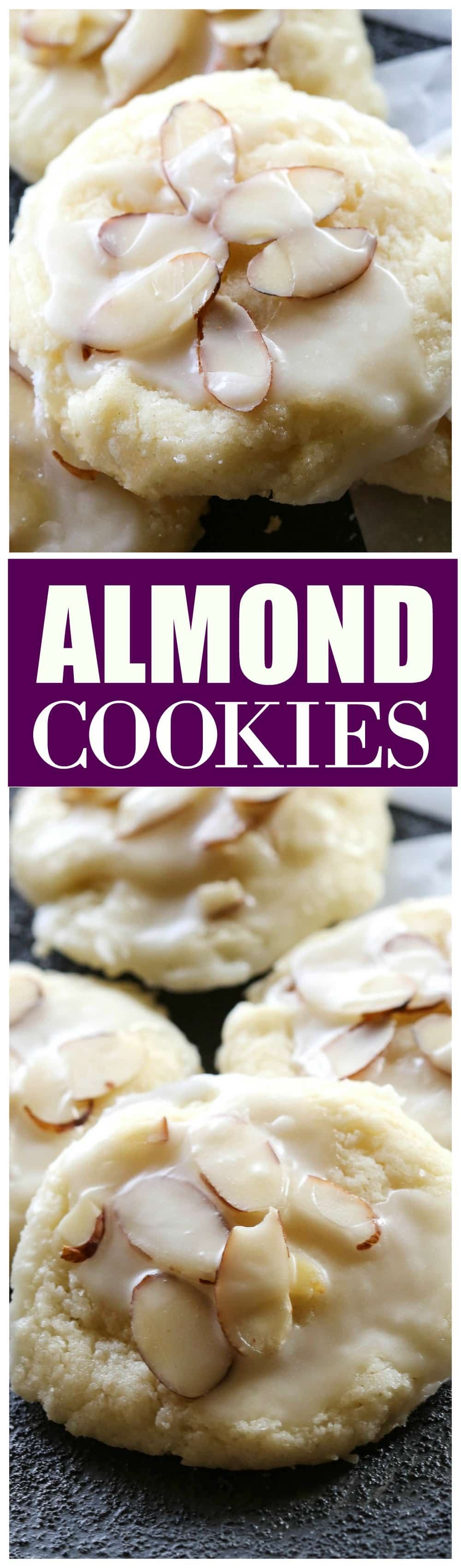 Almond Cookies - a family favorite we all love! #almond #cookies #dessert #recipe
