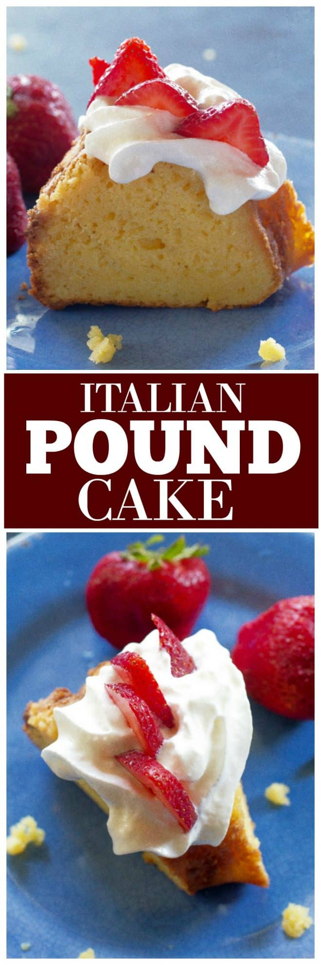Italian Pound Cake starting with a cake mix and doctored until it's delicious! #pound #cake #italian #dessert