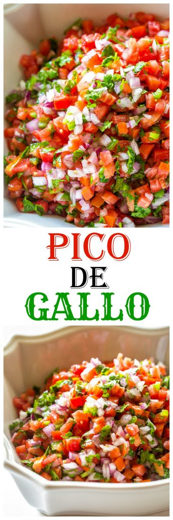 Pico De Gallo - Fresh tomato, cilantro, onion, and jalapeno make the best salsa ever. #mexican #picodegallo #salsa #recipe the-girl-who-ate-everything.com