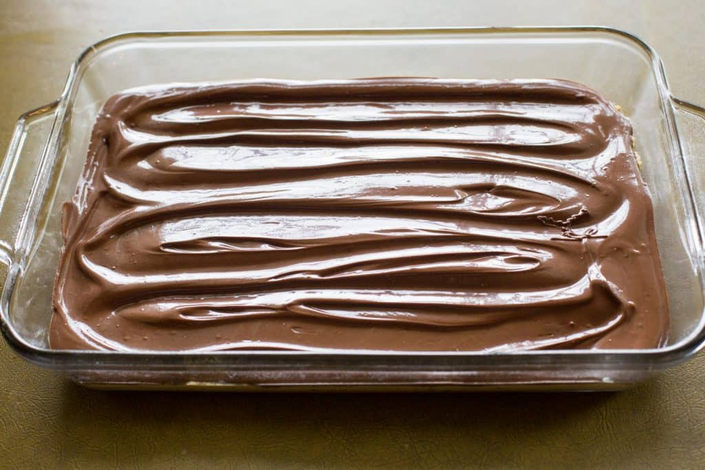 melted chocolate swirled
