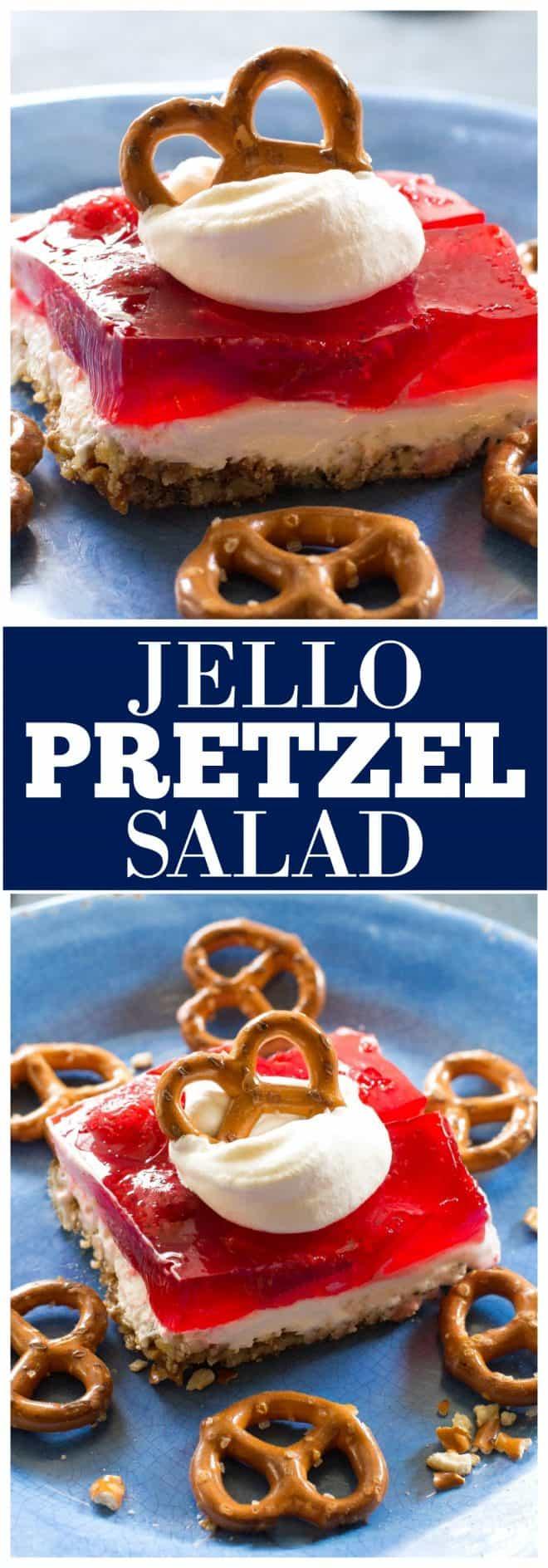 Jello Pretzel salad