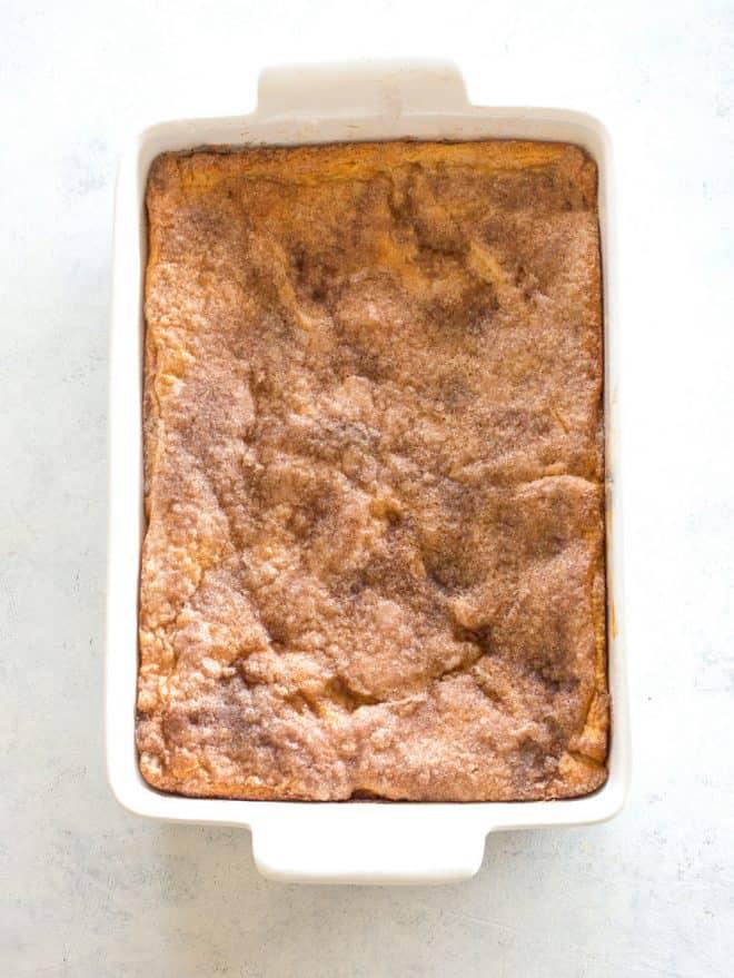 pan of cheesecake