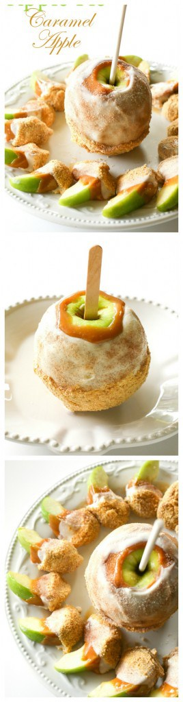 Apple Pie Caramel Apple - just like the ones at Disney World but way better and way cheaper. the-girl-who-ate-everything.com