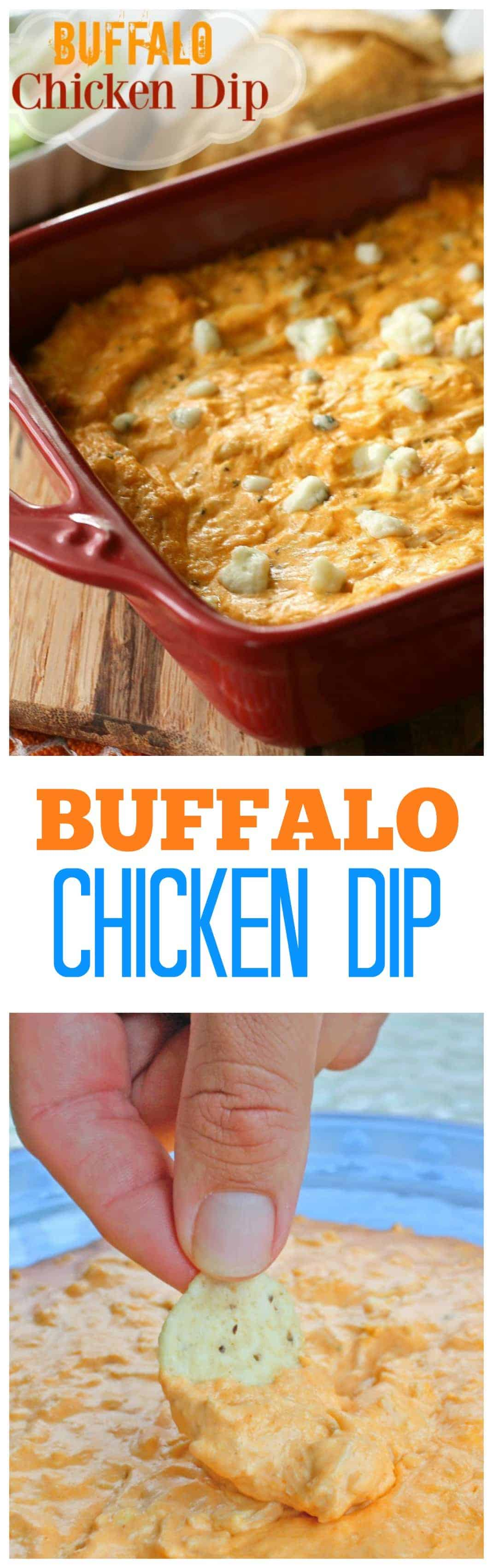 Buffalo Chicken Dip - we eat this almost every Sunday! A tried and true favorite. #buffalo #chicken #dip #appetizer #recipe #footballfood