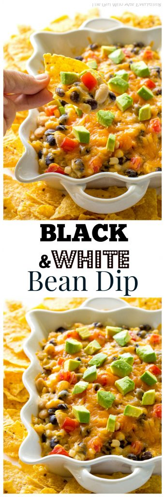 Black and Bean Dip - the best bean dip ever. Served warm and divine! the-girl-who-ate-everything.com