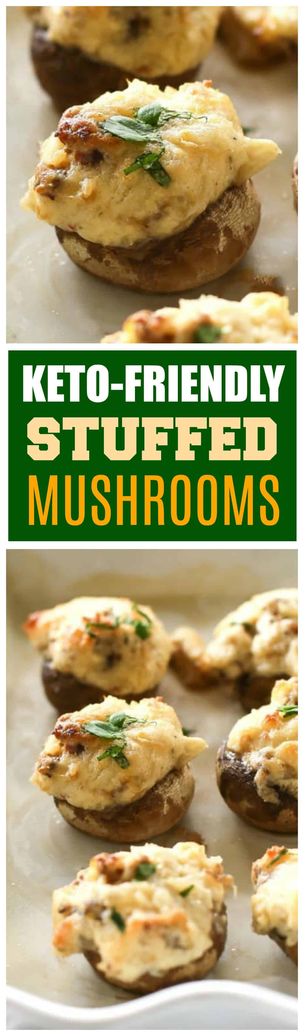 These Stuffed Mushrooms are keto friendly and low-carb. One of my favorite appetizers and gluten-free!
