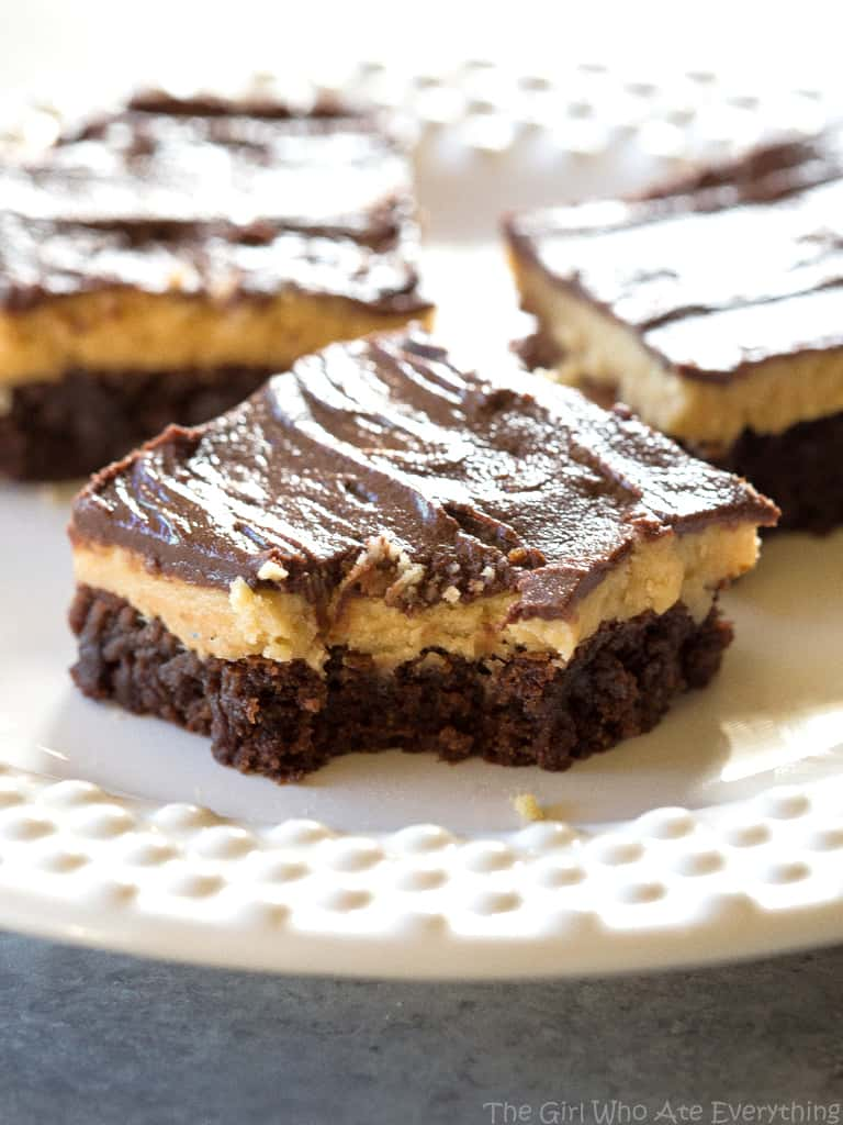 Peanut Butter Truffle Brownies with a bite