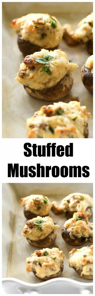 Stuffed Mushrooms - one of my favorite appetizers and gluten-free! the-girl-who-ate-everything.com