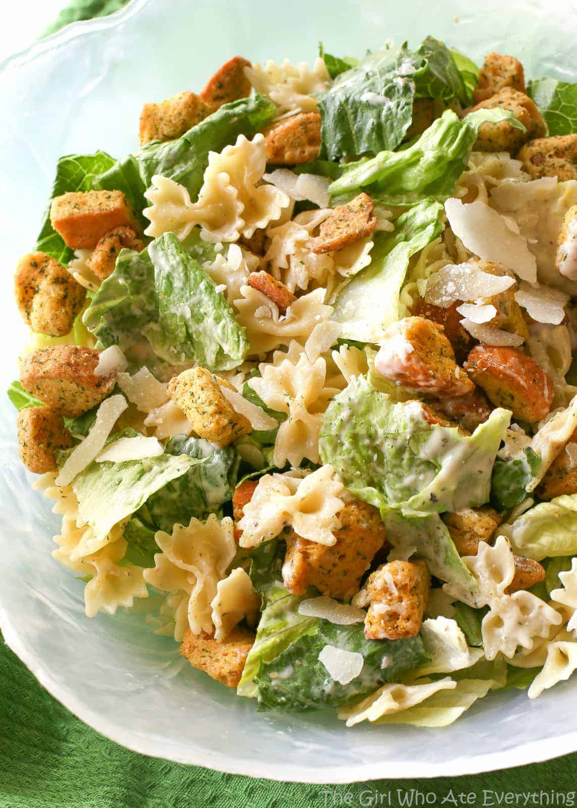 Bowtie Chicken Caesar Salad The Girl Who Ate Everything