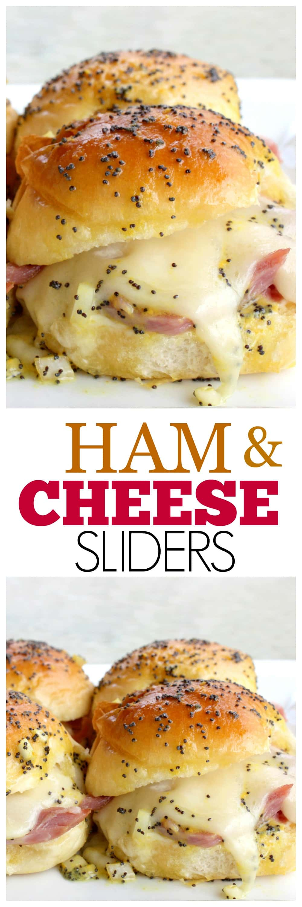 Ham and Cheese Sliders - easy and crowd pleasing sandwiches. #ham #cheese #sliders #sandwiches #potluck #recipe #dishes