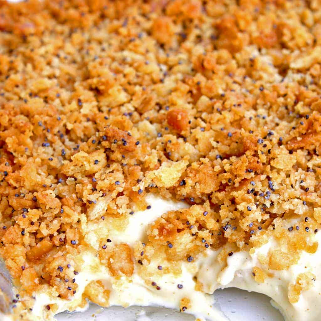 Poppy Seed Chicken in a casserole