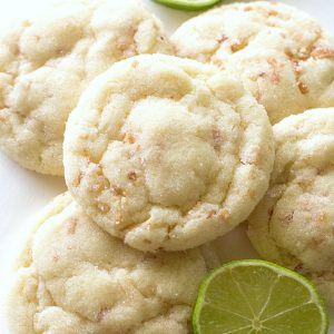 Chewy Coconut Lime Sugar Cookies - Super soft and chewy coconut lime cookies with a hint of lime. the-girl-who-ate-everything.com