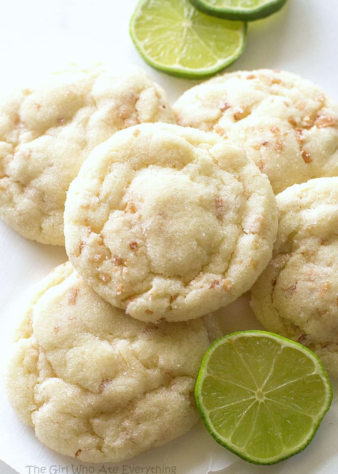 Chewy Coconut Lime Sugar Cookies - The Girl Who Ate Everything