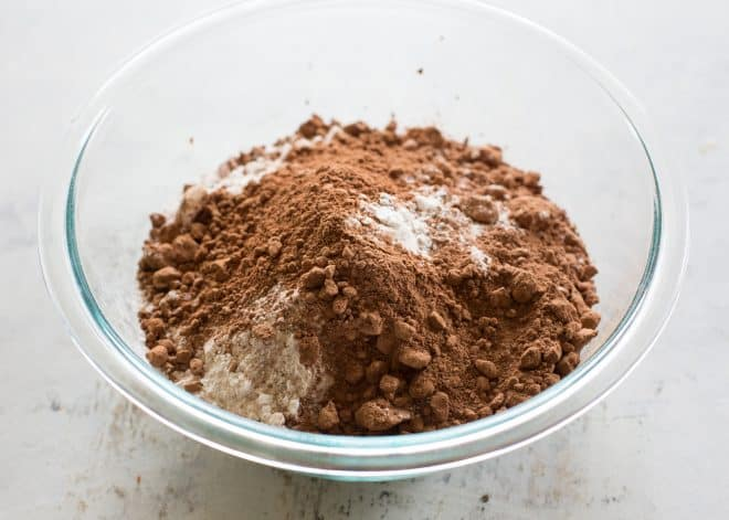 cocoa and flour