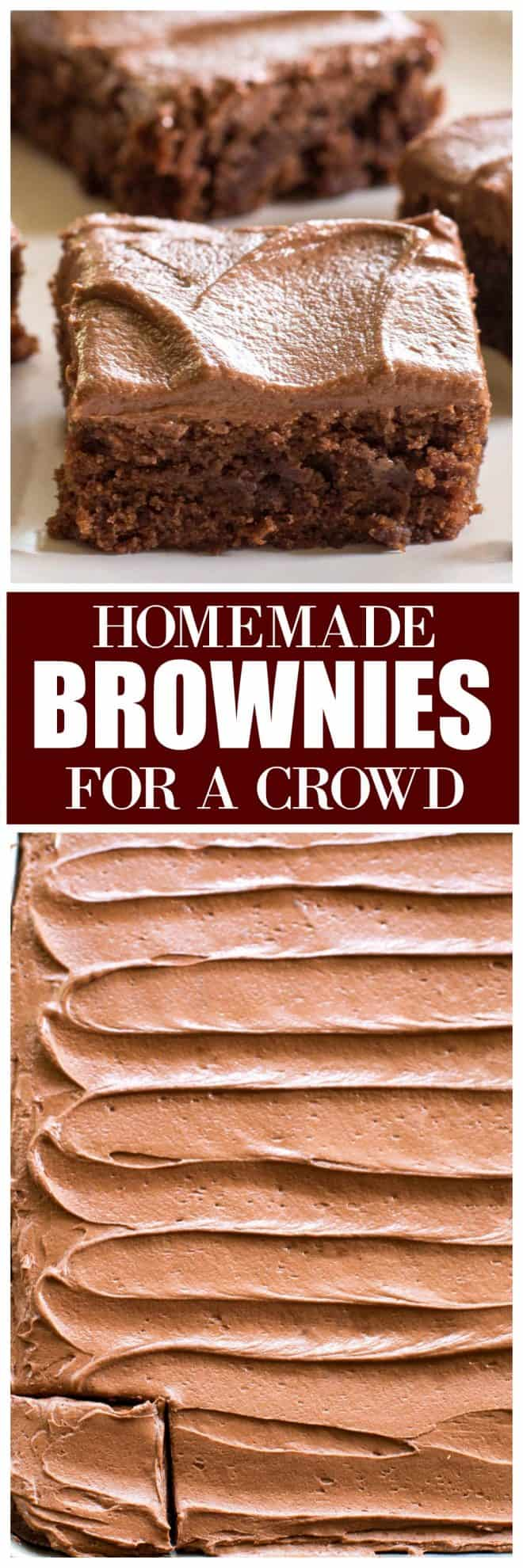 Homemade Brownies For a Crowd