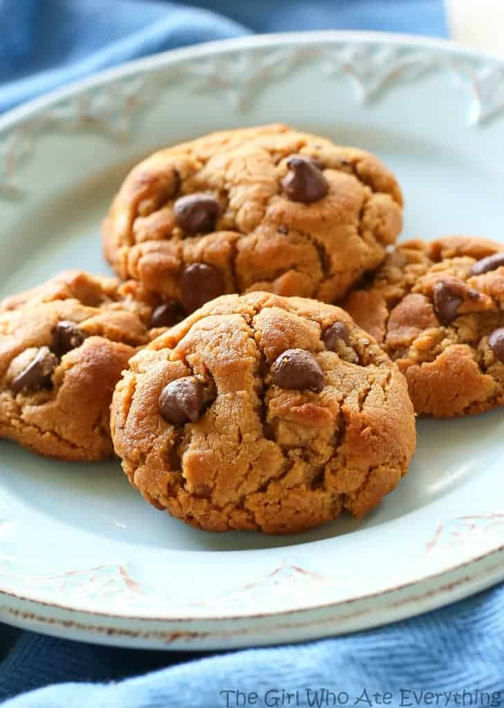 Ingredient Peanut Butter Chocolate Chip Cookies - The Girl Who Ate ...