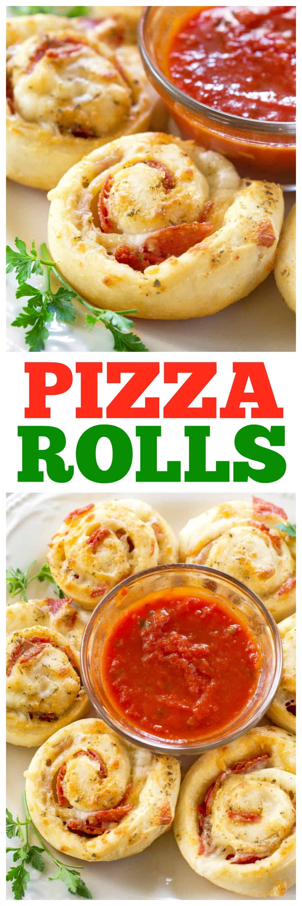 Pizza Rolls On a plate with marinara