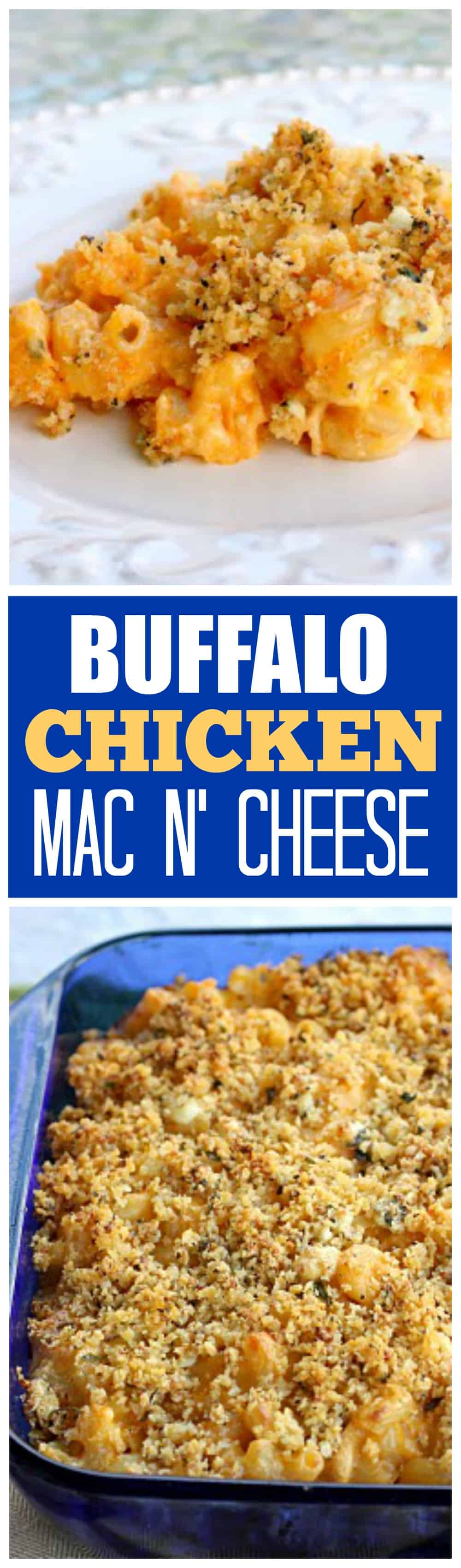 Buffalo Chicken Macaroni and Cheese</strong srcset=