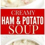 Ham and Potato Soup - so comforting and warm on a cold day!