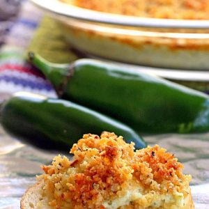 Jalapeno Popper Dip - creamy and topped with a crunchy topping! the-girl-who-ate-everything.com