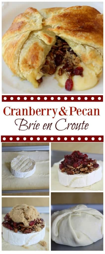 Cranberry and Pecan Brie En Croute - a festive appetizer that will be ...