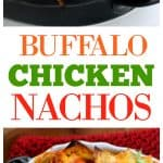 Buffalo Chicken Nachos - Yassss! An easy appetizer that's game time food. the-girl-who-ate-everything.com