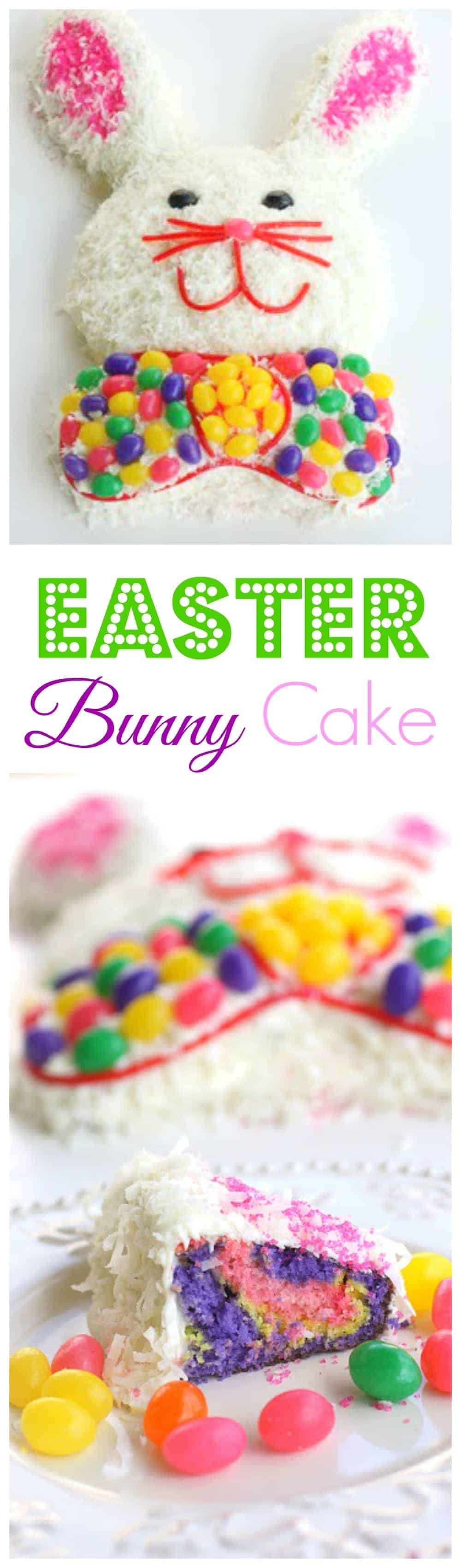 Easter Bunny Cake - so easy and always a hit with everyone for Easter. #easter #bunny #cake #recipe #dessert #easy