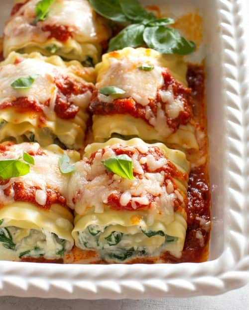 Lasagna Spinach Roll Ups