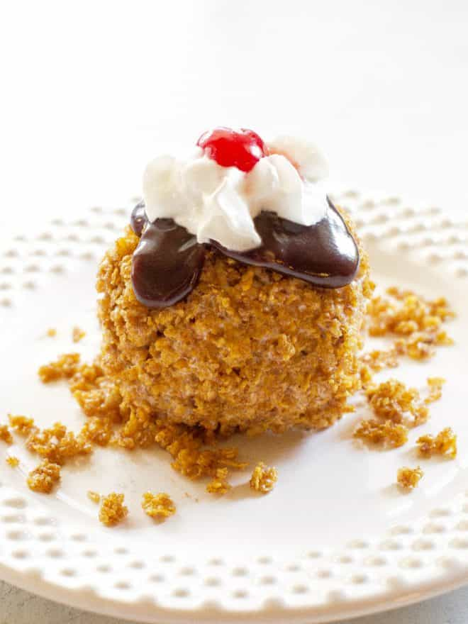 Fried Ice Cream on a plate