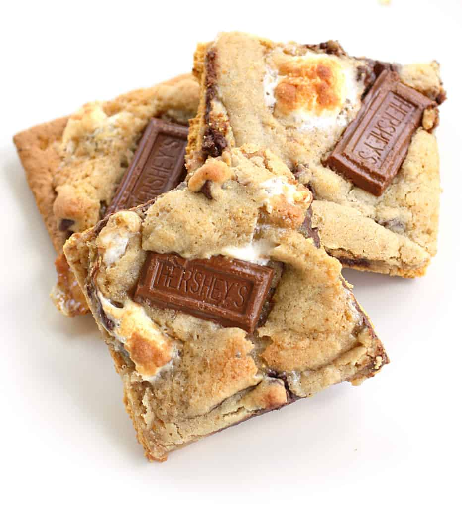 S'mores Cookies on a plate