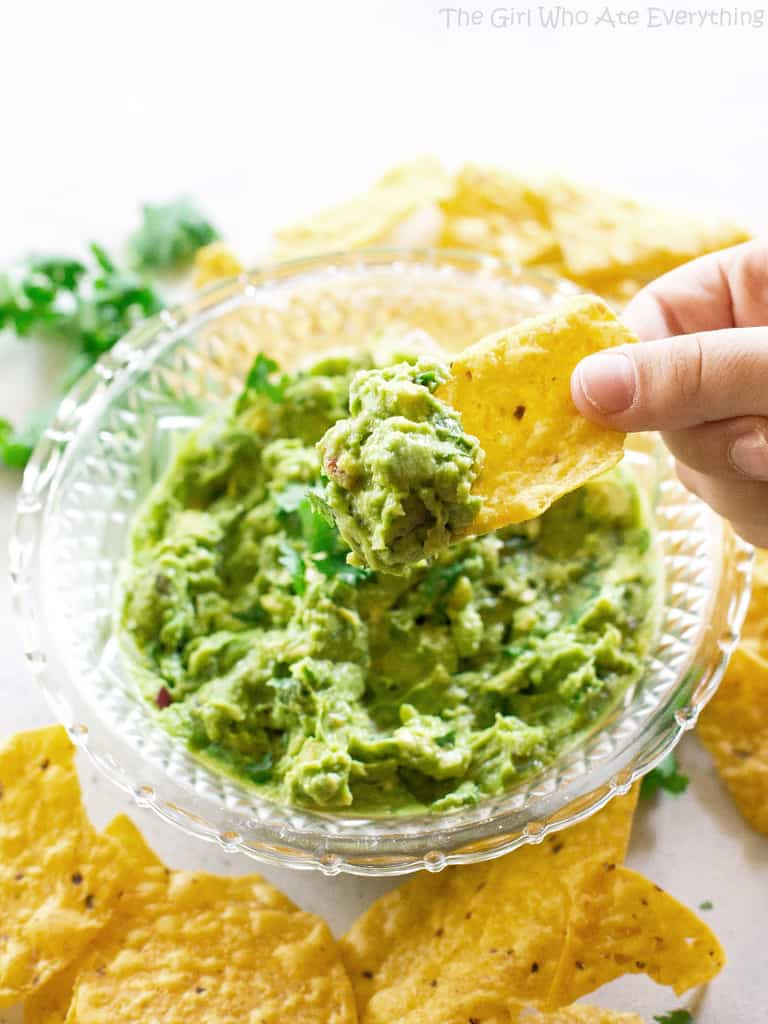 The Best Homemade Guacamole Recipe The Girl Who Ate Everything