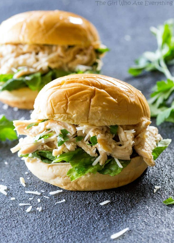 Slow Cooker Chicken Caesar Sandwiches A Tried And True Favorite The Girl
