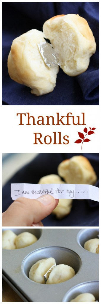 Thankful Rolls - a fun way to liven up the conversation at the Thanksgiving table. #breads #rolls #thanksgiving #traditions