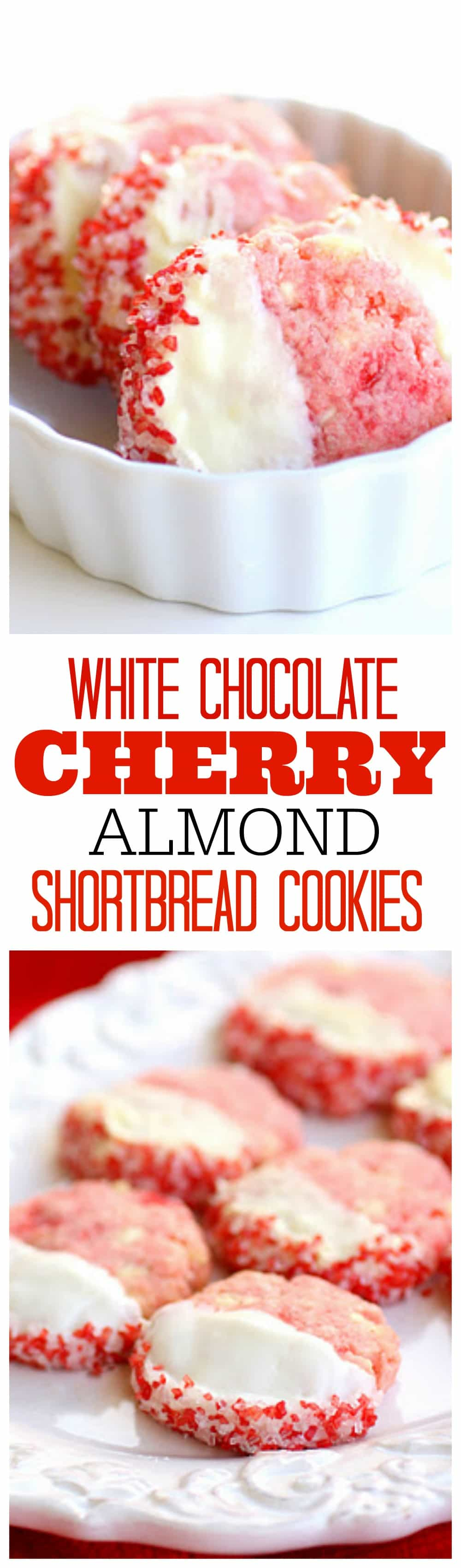 Shortbread Cherry Almond Cookies - so good and so festive. the-girl-who-ate-everything.com