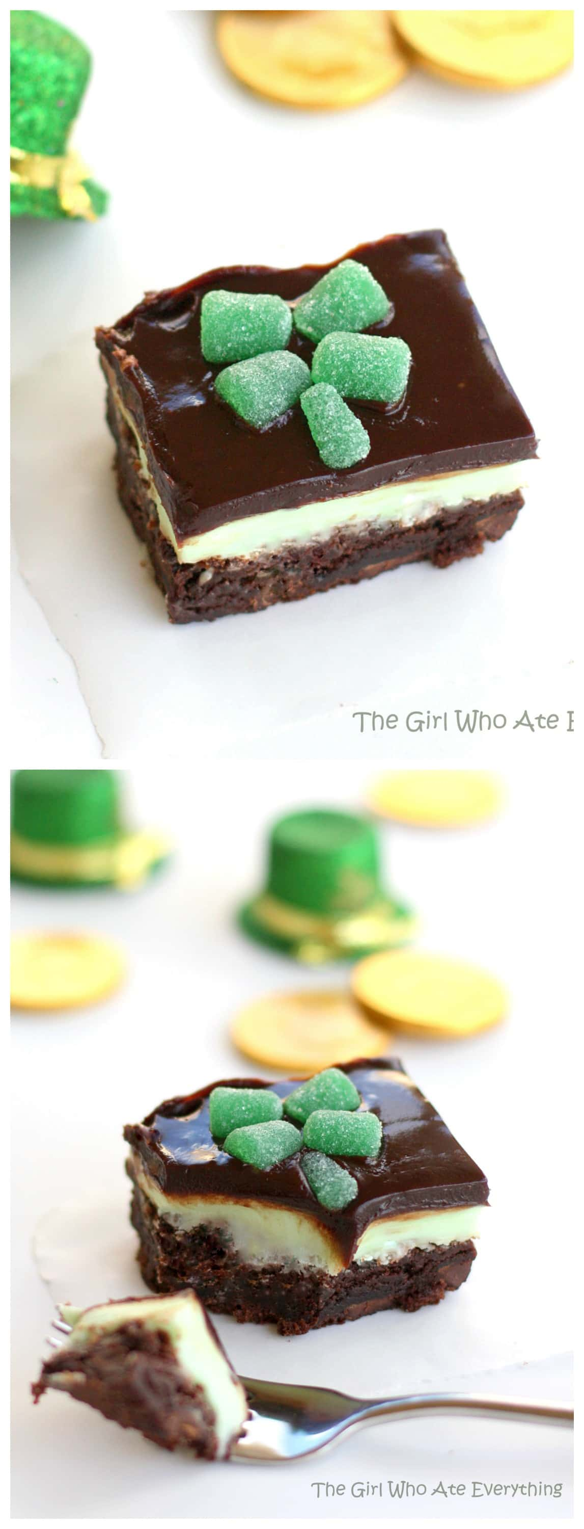 Chocolate Mint Brownies - great for St. Patrick's Day! the-girl-who-ate-everything.com