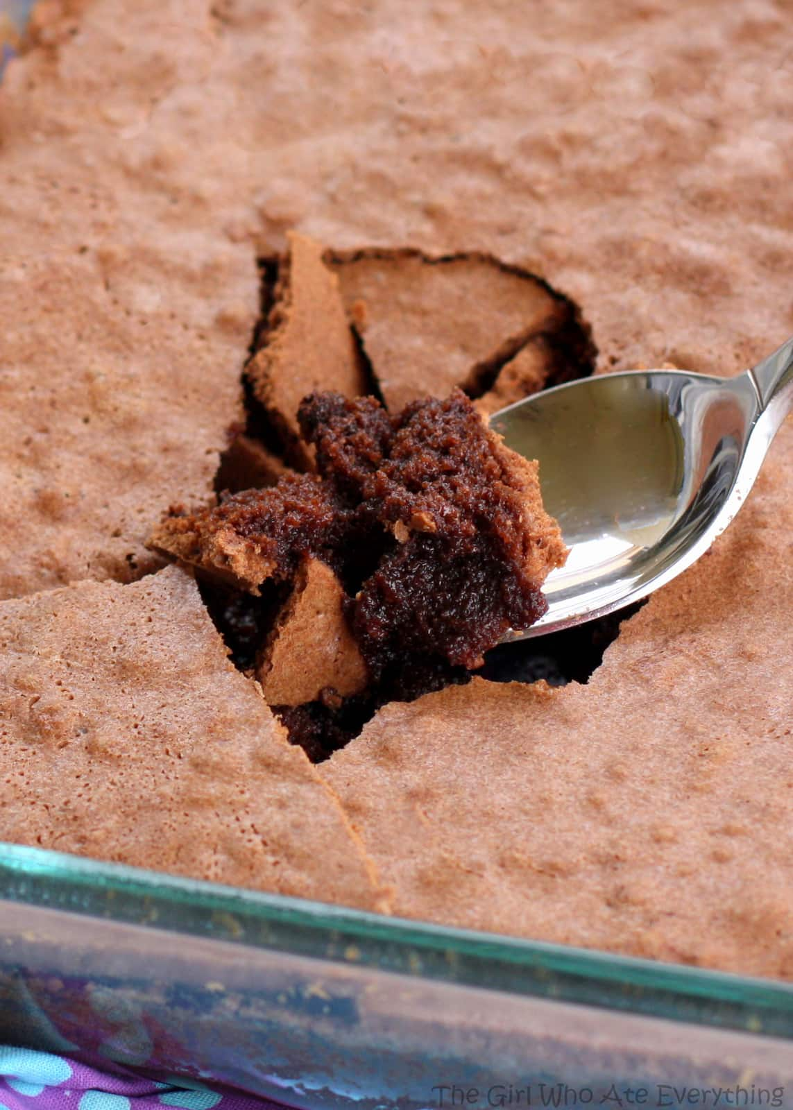 Brownie Pudding - crack the top with your spoon to get to the fudgy center! the-girl-who-ate-everything.com