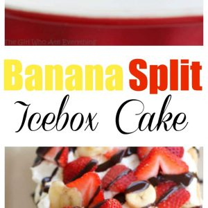 Banana Split Icebox Cake - A super easy icebox cake with bananas, strawberries, and graham crackers. the-girl-who-ate-everything.com