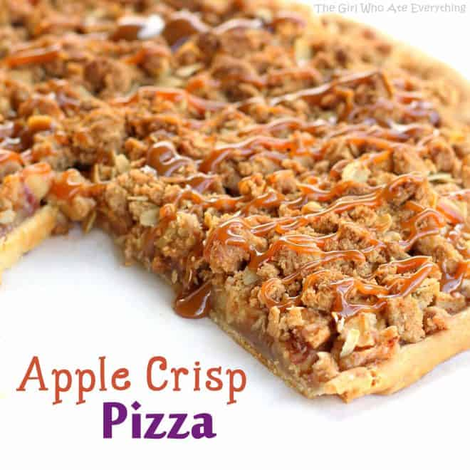 Apple Crisp Pizza - The Girl Who Ate Everything