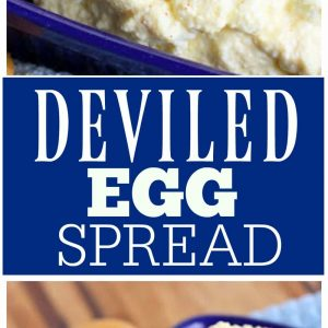 Deviled Egg Spread - I really could eat the whole bowl of this! the-girl-who-ate-everything.com