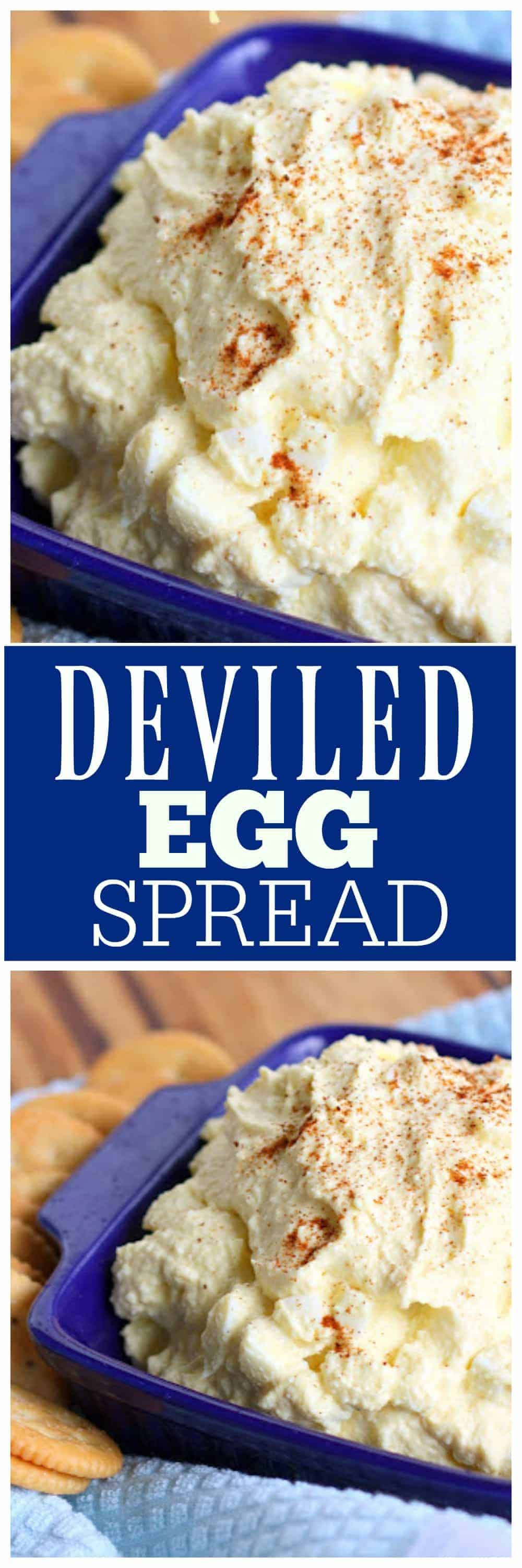 Deviled Egg Spread - I really could eat the whole bowl of this! #deviled #egg #spread #appetizer #recipe #easter