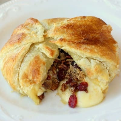 Cranberry and Pecan Brie En Croute - The Girl Who Ate Everything