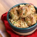 Asian Turkey Meatballs with Lime Dipping Sauce
