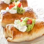 Baked Chicken Chimichangas