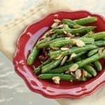 Green Beans with Bacon and Almonds and a Spotlight