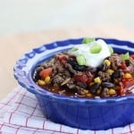 Healthy Spicy Beef and Black Bean Chili