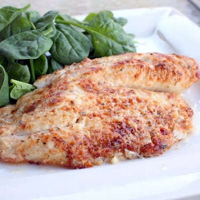 Parmesan Tilapia - a delicious healthy fish dinner that everyone loves! #seafood #fish #parmesan #tilapia #healthy #dinner