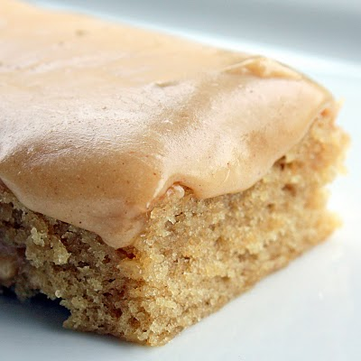 Peanut Butter sheet Cake - The Girl Who Ate Everything